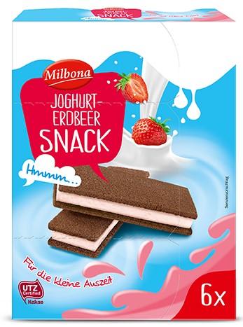 MILBONA Milch Snack Erdbeere Joghurt