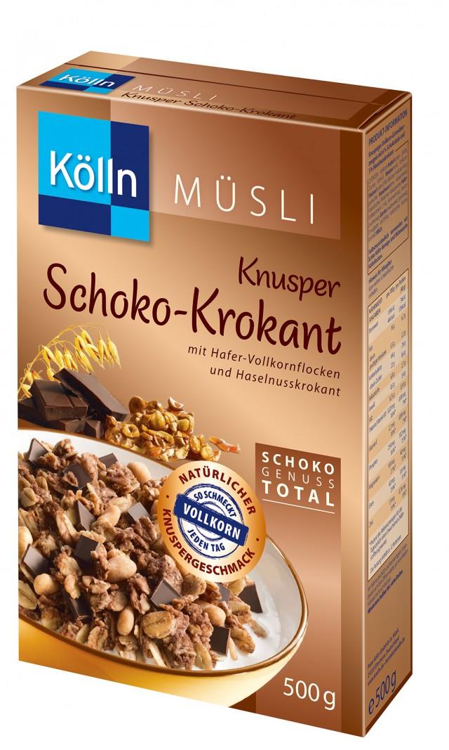 Kölln® Knusper Schoko/Krokant Müsli