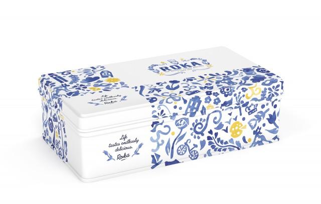 ROKA Cheese Crispies Gouda Cheese 70g - Delft Blue tin 1