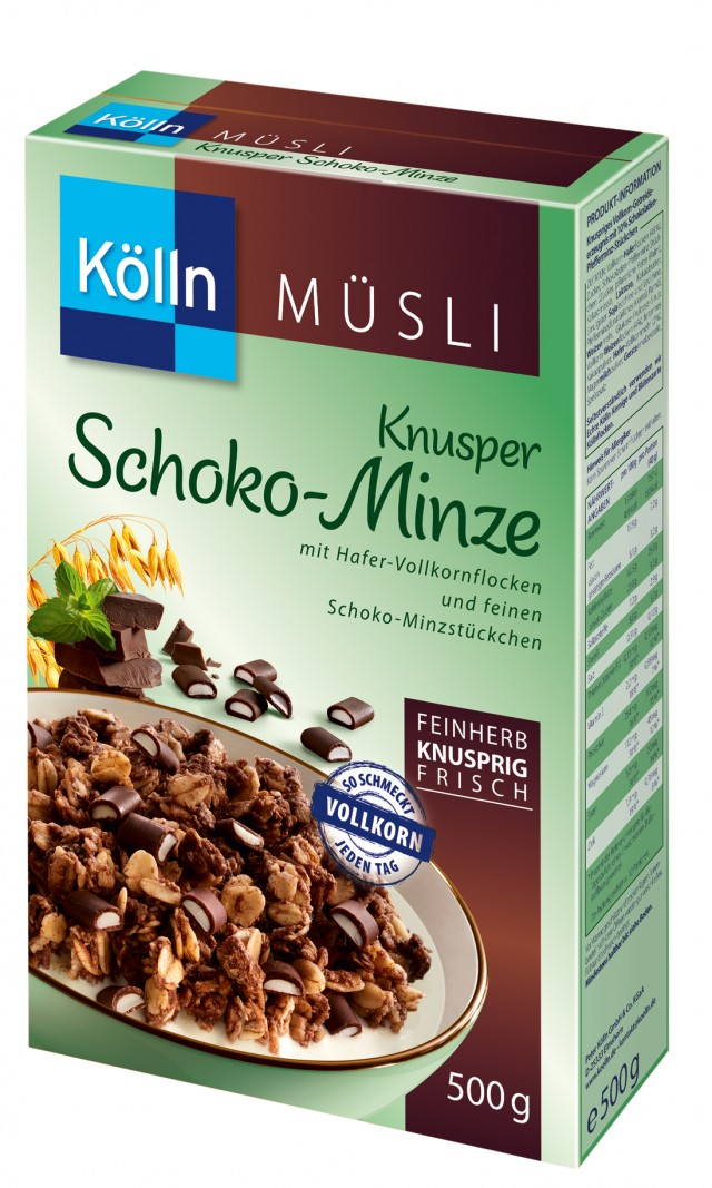 Kölln® Knusper Schoko-Minze Müsli