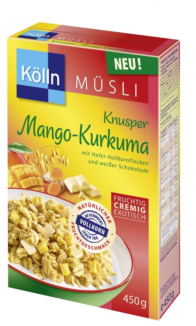 Kölln® Knusper Mango Kurkuma Müsli