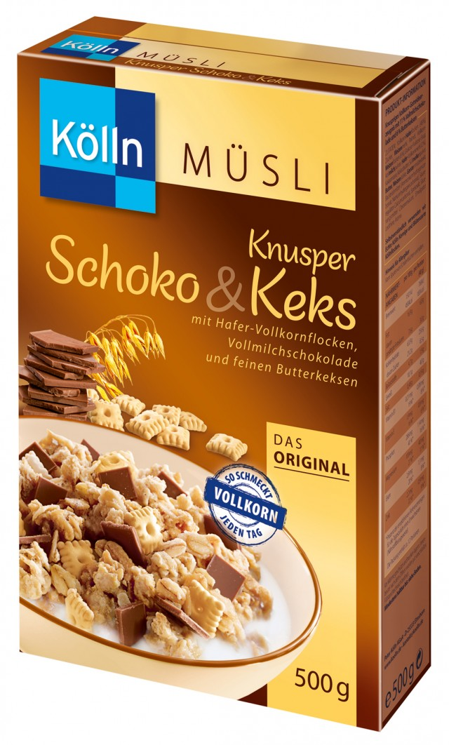 Kölln® Knusper Schoko Keks Müsli