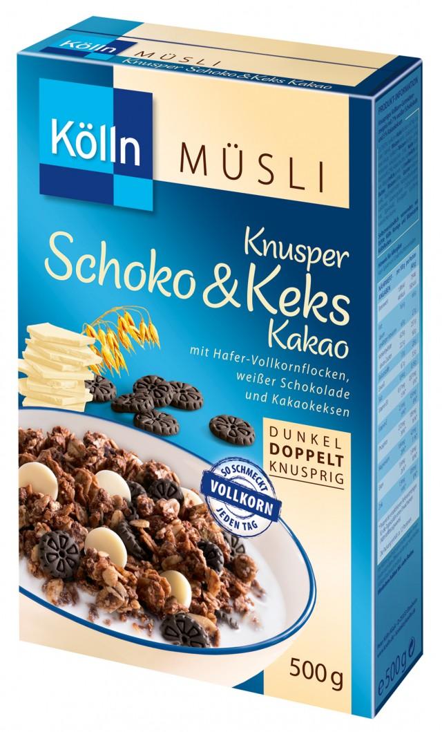 Kölln® Knusper Schoko Keks Kakau Müsli