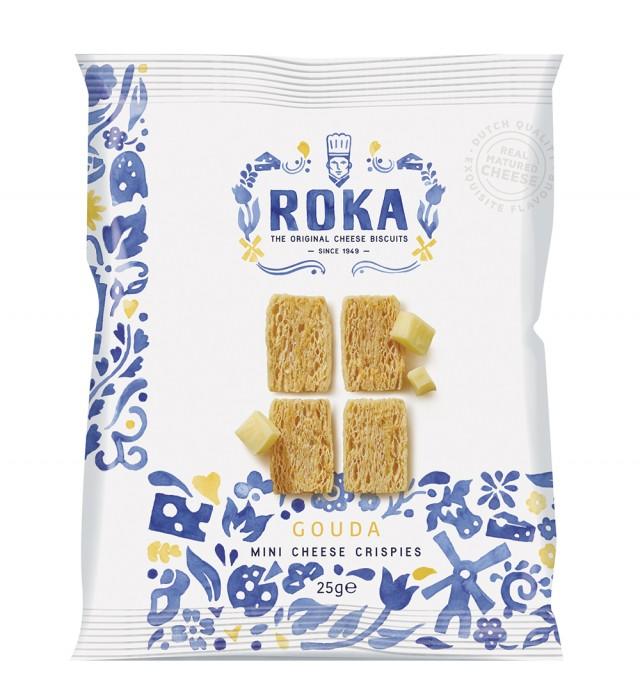 ROKA Mini Cheese Crispies Gouda Cheese Delft Blue 25g